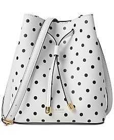 Lauren Ralph Lauren Dryden Debby II Mini Dot Drawstring Bag