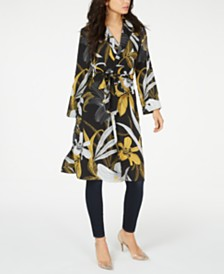 Thalia Sodi Floral-Print Duster Jacket, Created for Macy's