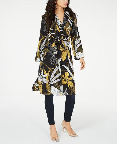 74db9ebb699d26 Thalia Sodi Floral-Print Duster Jacket, Created for Macy's & Reviews ...