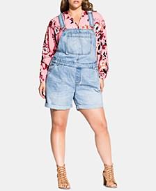 Trendy Plus Size Denim Shortalls