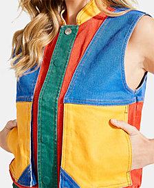 GUESS x J BALVIN Colorblocked Denim Vest