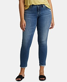 Silver Jeans Co. Avery Curvy-Fit Slim-Leg Jeans