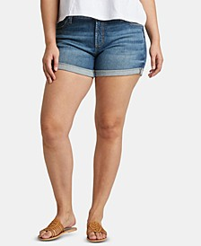 Plus Size Boyfriend Jean Shorts