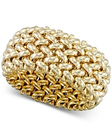 Italian Gold Weave-Style Statement Ring in 14k Gold