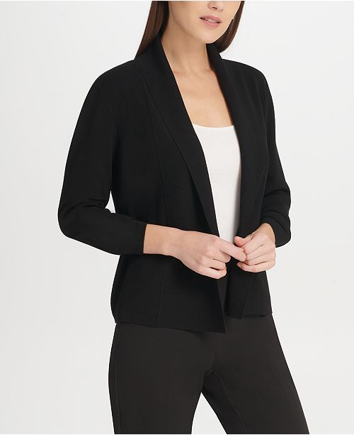 DKNY Open-Front Cardigan