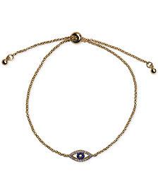 Kitsch Gold-Tone Pavé Evil Eye Slider Bracelet