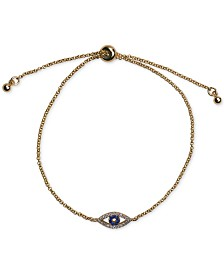 Kitsch 14k Gold Pavé Evil Eye Slider Bracelet