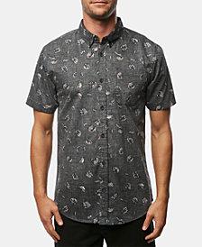 O'Neill Men's Fanfare Modern-Fit Palm-Print Poplin Shirt