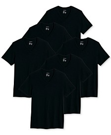 Men's 6-Pk. Classic Cotton V-Neck T-Shirts