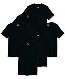 Men's 6-Pk. Classic Cotton V-Neck T-Shirts