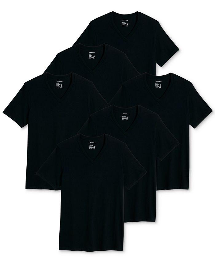 Jockey - Men's 6-Pk. Classic Cotton V-Neck T-Shirt