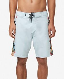 "Men's Hyperfreak Tropic Stretch Tropical-Print 19"" Board Shorts"
