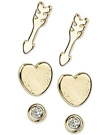 Kitsch 14k Gold 6-Pc. Set Follow Your Heart Stud Earrings