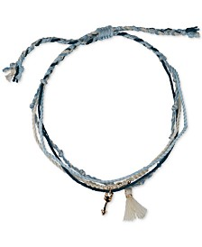 Kitsch Gold-Tone Arrow, Bead & Tassel Multi-Row Wishing Slider Bracelet