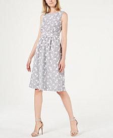 Calvin Klein Embroidered A-Line Dress