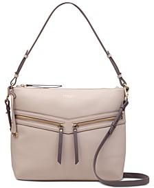 Smith Street Leather Zip-Top Shoulder Bag