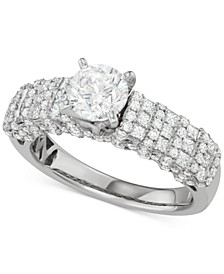 Diamond Multi-Row Engagement Ring (2-1/7 ct. t.w.) in 14k White Gold