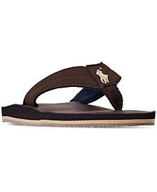 Little Boys' Leo Faux Leather Flip Flop Sandals from Finish Line