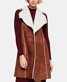 BCBGeneration Faux-Shearling Vest