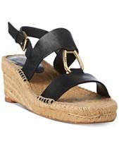 deaf9ab67ba8 Lauren Ralph Lauren Bena Espadrille Wedge Sandals