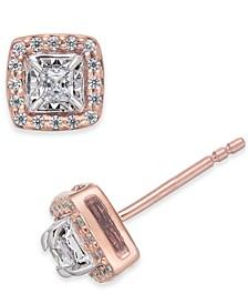 Diamond Square-Set Stud Earrings (1/4 ct. t.w.)