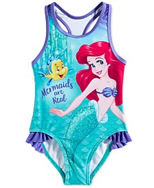Dreamwave Toddler Girls Little Mermaid Graphic Swimsuit
