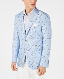 Tallia Orange Men's Slim-Fit Light Blue Bandana Dinner Jacket