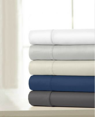 100% Cotton Sateen 1200 Thread Count 4-Piece Sheet Set - California King