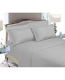 Elegant Comfort 4-Piece Luxury Soft Solid Bed Sheet Set King