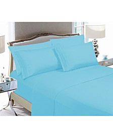 4-Piece Luxury Soft Solid Bed Sheet Set Queen