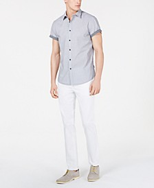 Men's Dot-Print Shirt & Twill Pants
