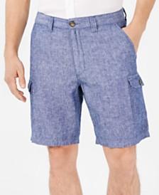 """Tasso Elba Men's Linen Blend 9"""" Cargo Shorts, Created for Macy's"""
