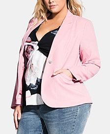 City Chic Trendy Plus Size Baby Please Jacket
