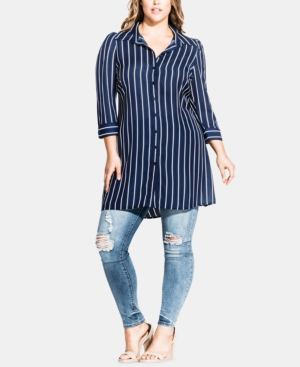 City Chic Tops PLUS SIZE PERFECT STRIPE TUNIC