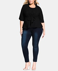 City Chic Trendy Plus Size Nora Tie-Back Top