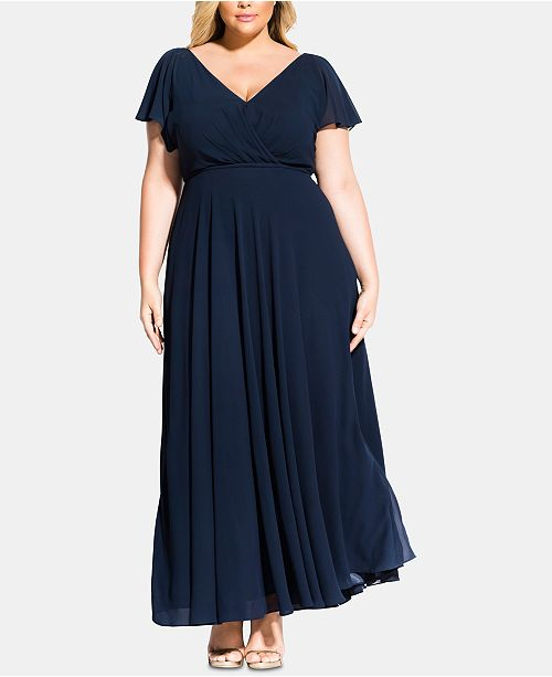 1251781033 City Chic Trendy Plus Size Sweet Wishes Maxi Dress   Reviews ...