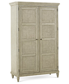 Raffia Armoire, Created for Macy's