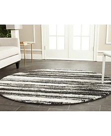 Safavieh Retro Dark Gray and Light Gray 8' x 8' Round Area Rug