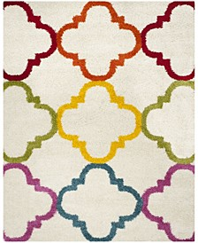 Shag Kids Ivory and Multi 8' x 10' Area Rug