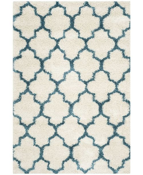 Safavieh Shag Kids Ivory and Blue 5' x 8' Area Rug