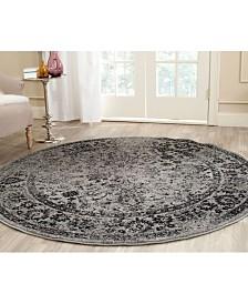 Safavieh Adirondack Gray and Black 4' x 4' Round Area Rug