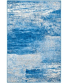 Adirondack Silver and Blue 6' x 9' Area Rug