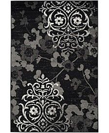 Adirondack Black and Silver 4' x 6' Area Rug