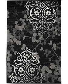 Safavieh Adirondack Black and Silver 4' x 6' Area Rug