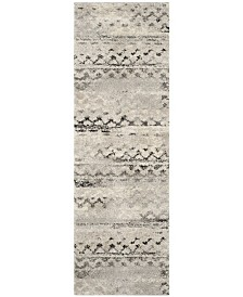 "Safavieh Retro Cream and Grey 2'3"" x 11' Runner Area Rug"