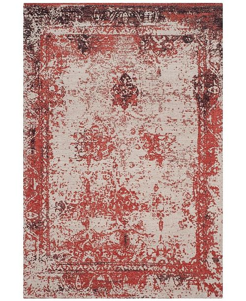 Clic Vintage Red 5 X 8 Area Rug