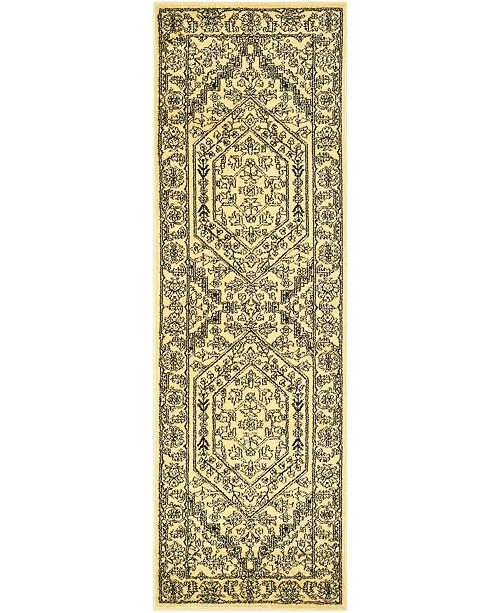 "Safavieh Adirondack Gold and Black 2'6"" x 6' Runner Area Rug"