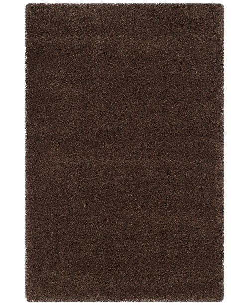 Safavieh Santa Monica Shag Brown 4' X 6' Area Rug