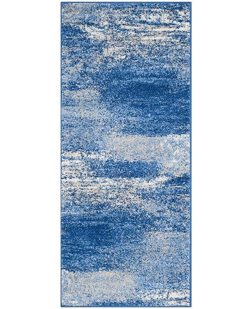 "Safavieh Adirondack Silver and Blue 2'6"" x 14' Runner Area Rug"