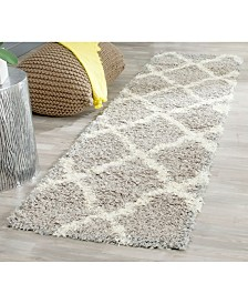 "Safavieh Dallas Grey and Ivory 2'3"" x 12' Runner Area Rug"